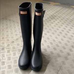 Skinny tall hunter rain boots